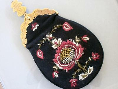 Lovely Authentic Hand Embroidered Norwegian Bunad Purse Norway