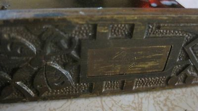 Antique Ornate Creo Door Lock Old Mortise Interior Hardware Butterfly Leaf