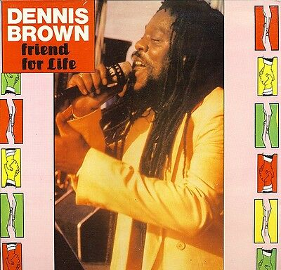 Dennis Brown Friend For Life Black Scorpio Vinyl LP