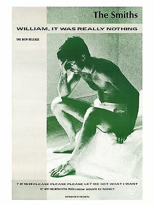 """The Smiths WILLIAM IT WAS REALLY NOTHING 16"""" x 12"""" Photo Repro Promo  Poster"""