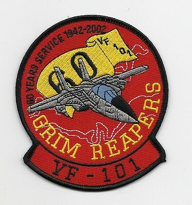 """US Navy Fighter Squadron VF-101 Grim Reapers """"1942 - 2002"""" patch"""