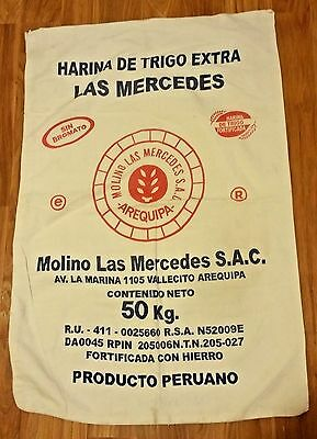 Rare Large Cloth Flower Sack Molina Las Mercedes S.A.C.from Arequipa Peru