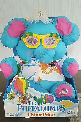 1987 Fisher Price ELEPHANT Wild Puffalump Hawaiian VARIANT FACTORY ERROR BOX NIB