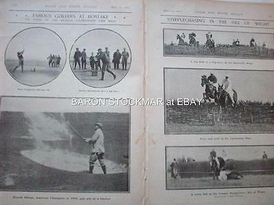 1902 HOYLAKE magazine photos of GOLF Championship match Hilton Hutchinson Ball 5