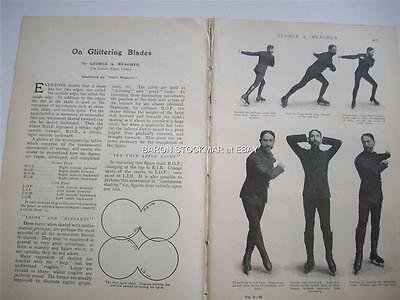 1906 FIGURE SKATING routines by George Meagher : magazine article cbf