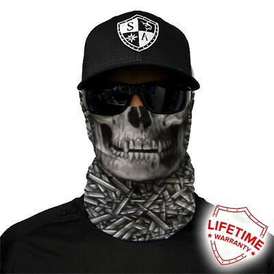 MOTORCYCLE FACE MASK - SKULL BULLETS - (Moto, Hunting, Fishing, Paintball)