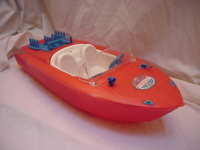 60s  BARBIE  BOAT  IN RED  BY IRWIN RARE  NEW !!