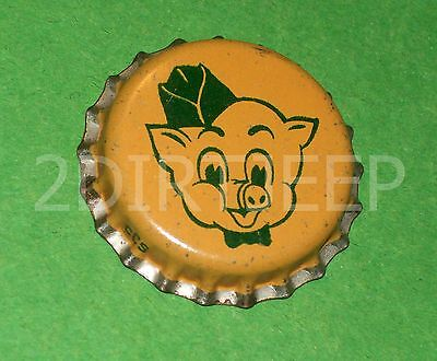 Piggly Wiggly Beverage Pig Drink Store Soda Vintage Pop Cork Unused Bottle Cap