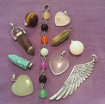 Wow - Bulk Lot 10 Assorted Premium Gemstone Pendants Inc Free Postage