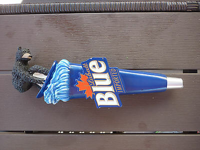 Labatt Blue Bear on wake board tap handle Draft Beer Rare SUPER NICE FREE SHIP