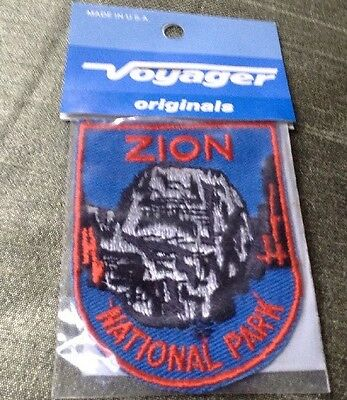 ZION NATIONAL PARK  Voyager Originals Vintage Jacket Patch Emblem NOS Retro
