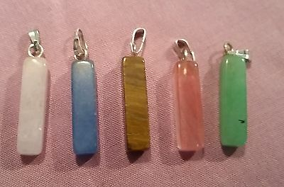 Wow Bulk Lot - 5 X Unusual Mixed Gemstone Pendants - Free Post