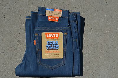 vtg 70's NOS NEW Levis Dura Plus 25 x 32 student jeans bell bottoms orange tag