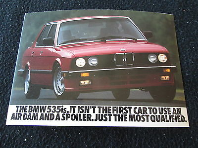 1987 1988 BMW 535is Sport Sedan Postcard E28 5 Series - unused