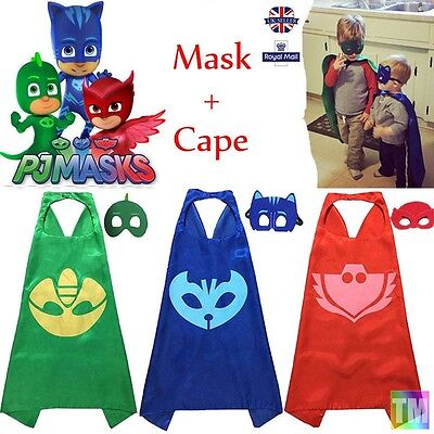 DRESS UP BIRTHDAY PARTY Super Hero Children's Fantasy Play Mask Cape And Mask