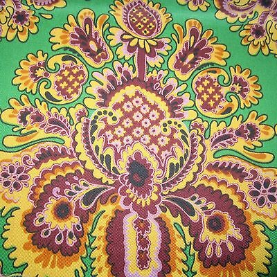51Cm X 61 Cm Hoad Freemont Psychedelic Vintage Curtain Fabric 1960S Wild Lime