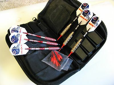Duo Pak of Soft Tipped Darts Holders extra Tips Chicago Bears Flights Soft Case