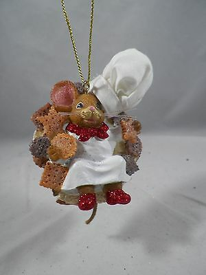 Girl Mouse Chef Christmas Tree Ornament new holiday
