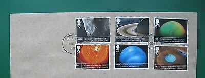 2012 SPACE SCIENCE - set of 6 FINE USED on envelope