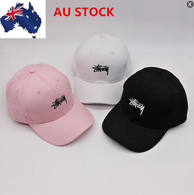 Casual BASEBALL CAP HAT SNAP BACK Adjustable Strap Unisex Mens Women Sun Hat AU