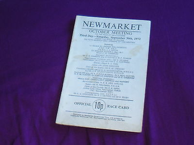 Newmarket October Meeting 1972  Sun Chariot  Stakes, Cambridgeshire