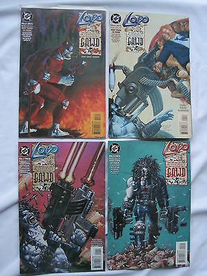 LOBO : A CONTRACT ON GAWD : COMPLETE 4 ISSUE SERIES by GRANT, DWYER etc. DC.1994