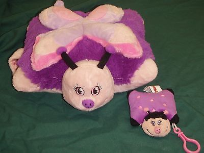 soft plush 30cm butterfly pillow pet toy and keyring