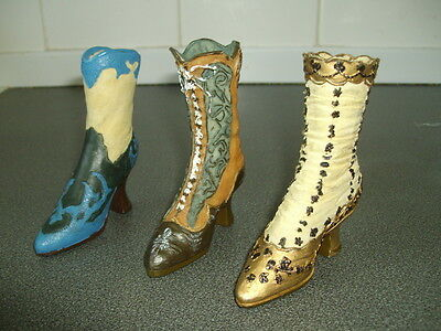 Three Miniature Boots