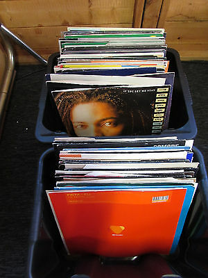 "100 Job Lot 12"" Single Vinyl Records   CASH ON COLLECTION"