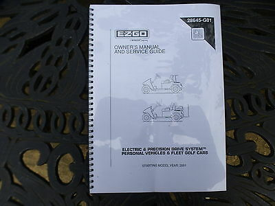 A E-Z-Go Owners Manual And Service Guide 2001