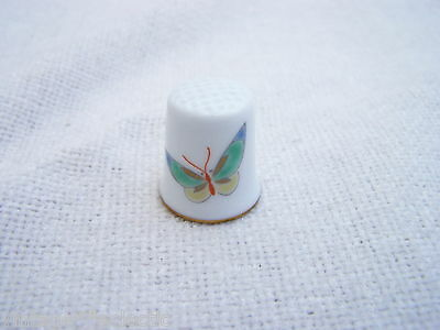 Fukagawa Japan Bone China Butterfly Thimble ~ Most Excellent Condition