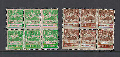 WA 1943 1/-, 2/-SMALLSWAN -Revenue- Crown/WA UP & INV-double frame -Cat $54+ FU