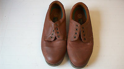 Brown Bowling Green Shoes Leather Indoor Outdoor Lace-Up Size 8