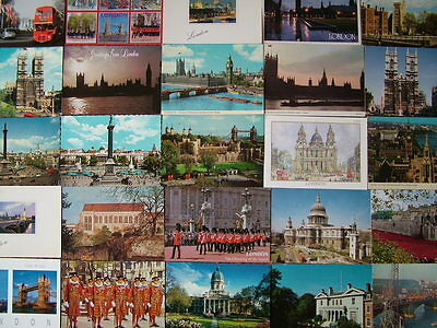 100 Used Postcards of LONDON. 1960's/70's onwards.
