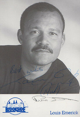 Louis Emerick Vintage Brookside Soap Early Hand Signed Cast Card Photo