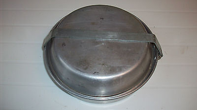 Vintage Bull Dog Bulldog Brand Aluminum Camping Mess Kit Cook Set with handle