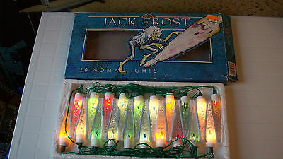 Vintage Jack Frost Icicle Noma Christmas Lights