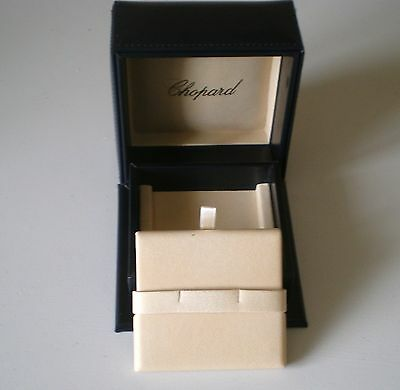Original Chopard Box/case/display For Earrings Or Cufflinks With Outer Box