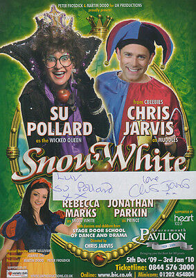 Su Pollard Hi-De-Hi Chris Jarvis Cbeebies Hand Signed Theatre Flyer Handbill
