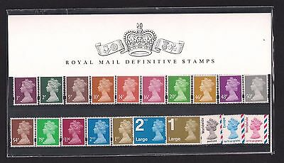 GB 2007 40th Anniversary Machin Definitives Presentation Pack No. 77