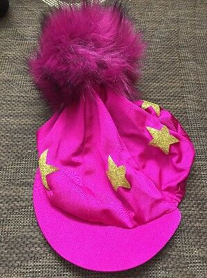 Stockinjur Fuchsia And Gold Star Giant Pom Pom Silk Never Used