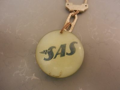 vintage key chain SAS Scandinavian airlines aircraft airplane company logo