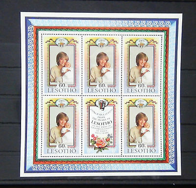 Lesotho 1982 Birth of Prince William of Wales Miniature Sheet MNH