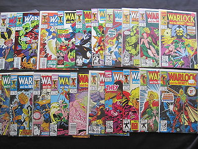 WARLOCK & the INFINITY WATCH : COMPLETE RUN of 1 -18 by JIM STARLIN. THANOS.1992