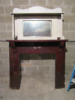 ~  Antique Carved Oak Fireplace Mantel ~ 56 X 81  ~  Architectural Salvage