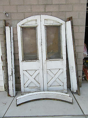~ Antique Carriage House Doors With Frame ~ 56 X 93 Architectural Salvage