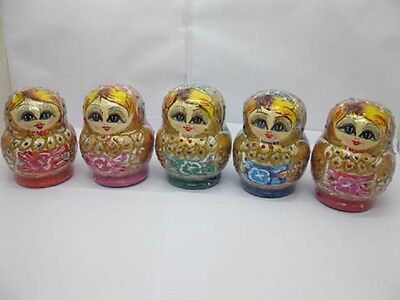 5Set Russian Wooden 6 Nesting Dolls toy-o128