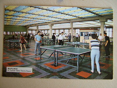 Postcard - BUTLIN'S, A Typical Table Tennis Room. Used 1972. Standard size.