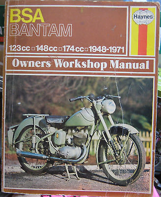Bsa Bantam D*sports*supreme*trails*bushman*silver*b175~Haynes Repair Manual