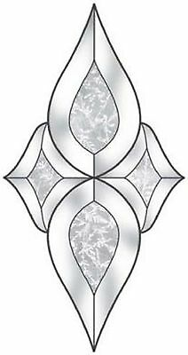 Stained Glass Supplies Small Centerpiece Clear GlueChip Bevel Cluster EC620GC